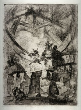 The Giant Wheel, plate IX, from the series Carceri d'invenzione (Imaginary Prisons)