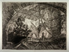 Prisoners on a Projecting Platform, plate X, from the series Carceri d'invenzione (Imaginary Prisons)