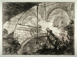 The Arch with a Shell Ornament, plate XI, from the series Carceri d'invenzione (Imaginary Prisons)