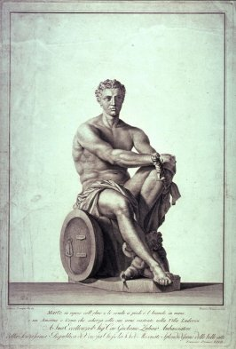 Mars, from an antique sculpture in the Villa Ludovisi