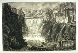 Veduta della Cascata di Tivoli (View of the Grand Cascade at Tivoli), from Vedute di Roma (Views of Rome)