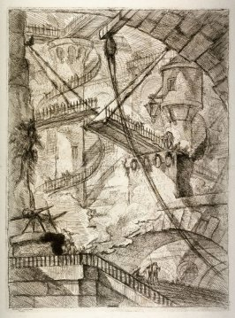 The Drawbridge, pl. VII from the series, Carceri d'invenzione (Imaginary Prisons)