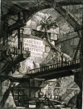 Title Page to the second edition of the series, Carceri (Prisons)