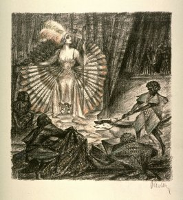 The Legend of St. Joseph/Potiphar's wife on a throne at the Feast