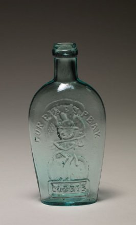 "Flask aquamarine, inscribed ""For Pike's Peak"""