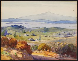 Untitled, (View of San Francisco bay with Mount Tamalpais in the background)