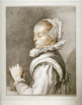 [Portrait of a woman holding a book]