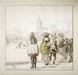 Friedrich V Van der Pfalz and His Wife on the Ice