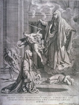 The Virgin Appearing to S. Francesca Romana, after a lost painting by N. Poussin