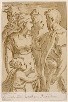 Group of Five Figures, from the series 'Prints in Imitation of Drawings'