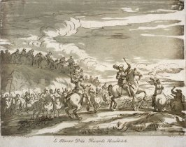 Cavalry going into action, from the series 'Prints in Imitation of Drawings'
