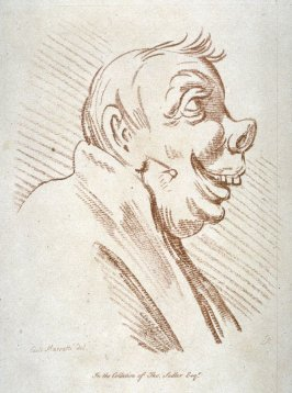 Caricature head in profile, from the series 'Pond's Caricatures'