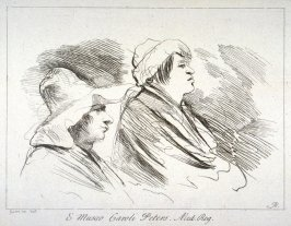 Seated Figures with Hats, from the series 'Prints in Imitation of Drawings'