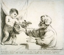 The Infant Christ with a bird and St. Joseph, from the series 'Prints in Imitation of Drawings'