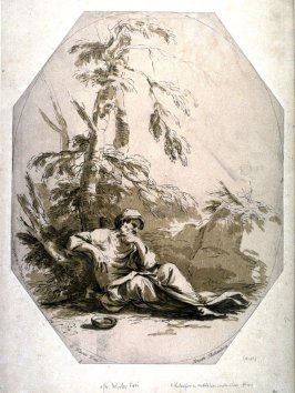 A Philosopher in Meditation under a Tree, from the series 'Prints in Imitation of Drawings'
