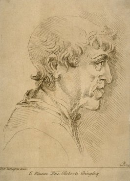 Profile study of a man, from the series 'Prints in Imitation of Drawings'