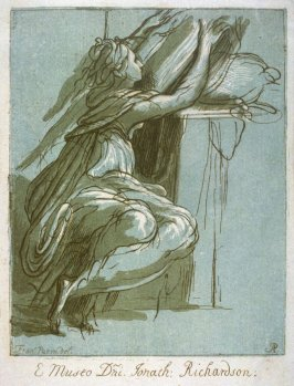 Female figure seated, from the series 'Prints in Imitation of Drawings'