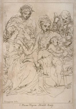 Holy Family with St John, from the series 'Prints in Imitation of Drawings'