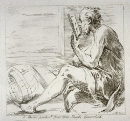 A philosopher reading, from the series 'Prints in Imitation of Drawings'