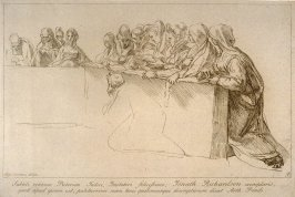Eleven female figures kneeling in prayer, from the series 'Prints in Imitation of Drawings'