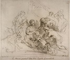 Adoration of the Shepherds, from the series 'Prints in Imitation of Drawings'