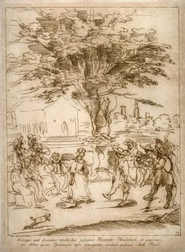 Dancing on the village square, from the series 'Prints in Imitation of Drawings'