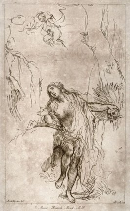 The Magdalen in penitence, from the series 'Prints in Imitation of Drawings'