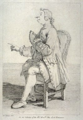 Seated male figure, from the series 'Pond's Caricatures'