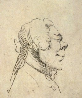 A man's head, from the series 'Pond's Caricatures'