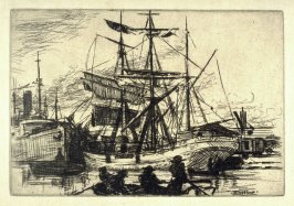 Ships in Harbor from the Honolulu Series
