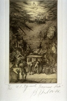 Fourteenth plate in the portfolio Torrents of Spring, based on the book by Ivan Turgenev