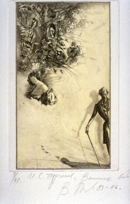 Eleventh plate in the portfolio Torrents of Spring, based on the book by Ivan Turgenev