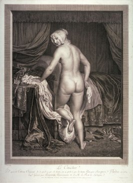 Le Coucher, after a painting by J. Van Loo, 1650