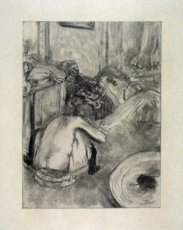 Femme à sa toilette intime (Woman at her toilette) from the set accompanying the book, La maison Tellier by Guy de Maupassant (Paris: Ambroise Vollard, 1934)