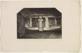 Ossuaire des catacombes (Ossuary in the Catacombs), 1862, from the series L'ancien Paris (Old Paris), ca. 1864