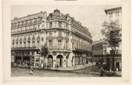 Théâtre du Vaudeville, from the series Notes et eaux-fortes pour 1868 (Notes and Etchings from 1868)