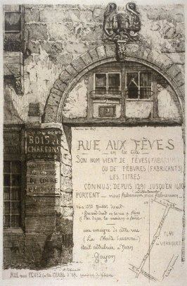 Rue Aux Feves, from L'Ancien Paris