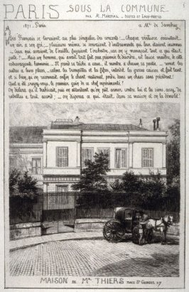 Maison de Mr. Thiers, from Paris, sous la Commune