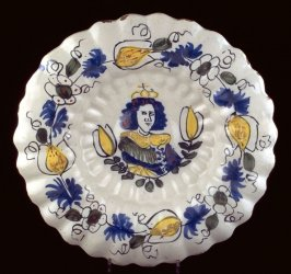 William and Mary portrait plate
