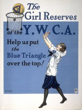 The Girl Reserves of the Y.W.C.A. - World War I poster