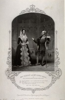 Mrs.Ternan and Mr. Lewis Ball as The Countess Rousillon and her Clown in All's Well That Ends Well.