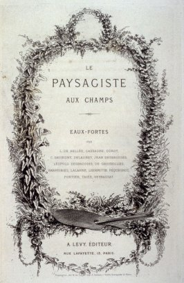 Frontispiece ( title sheet for the etchings) in the book, Le Paysagiste aux champs (Paris: A. Lévy, 1876)