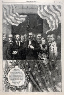 President Hayes at Louisville, Kentucky - p.788 Harper's Weekly 6 October 1877