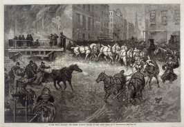 In the Snow - Clearing the Street Railway Tracks in New York - p.49 Harper's Weekly 20 January 1877