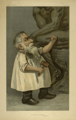 """he thinks in marble"", from Vanity Fair December 20, 1904"