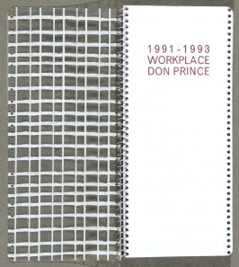 Inside of plastic cover and title page in the book 1991-1993 Workplace