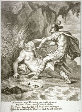 Thetis caught by Peleus