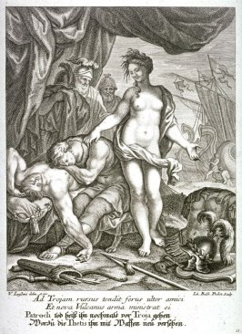 After the death of his friend Patrokles, Achilles decides to return to Troy, whereupon Thetis supplies him with new weapons