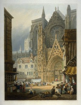 South entrance to the Cathedral at Rouen