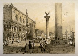 Ducal Palace, Venice, twenty-second plate in the book Sketches in France, Switzerland and Italy (London: Hodgson & Graves, [ca. 1840])